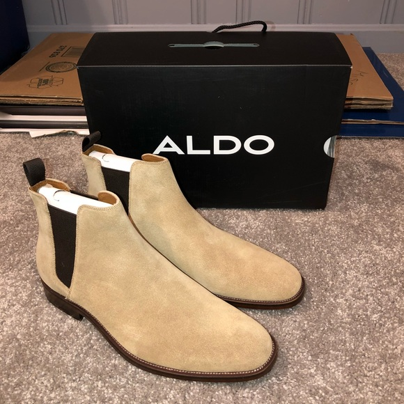 be48f3ae0d Aldo Shoes | Brand New Mens Astaria Taupe Chelsea Boot | Poshmark